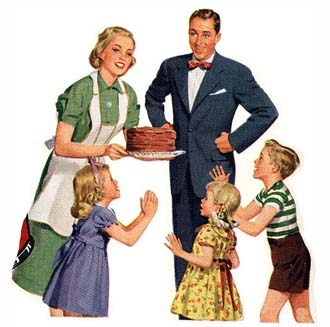 Where men were men and women wore aprons.