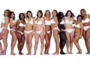 Don't matter how fat or skinny, women have curves. Glorious curves. Image copyright Dove Campaign for Beauty